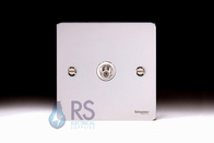 Schneider Flat Plate Satellite Socket Polished Chrome GU7230WPC