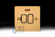 Schneider Flat Plate Switched Spur Neon Polished Brass GU5211BPB