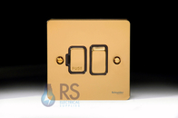 Schneider Flat Plate Switched Spur Polished Brass GU5210BPB