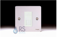Schneider Flat Plate Telephone Master Socket Polished Chrome GU7261MWPC