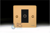 Schneider Flat Plate TV Socket Polished Brass GU7210MBPB