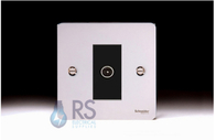 Schneider Flat Plate TV Socket Polished Chrome GU7210MBPC