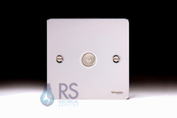 Schneider Flat Plate TV Socket Polished Chrome GU7210WPC