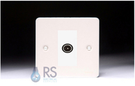 Schneider Flat Plate TV Socket White Metal GU7210MWPW