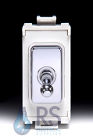 Schneider Ultimate Intermediate Toggle Grid Switch Polished Chrome GUG10ITWMS