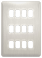 Schneider Lisse Deco Screwless 12G Stainless Steel Grid Plate GGBL12GSS