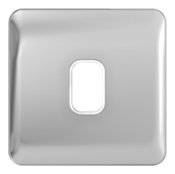 Schneider Lisse Deco Screwless 1G Polished Chrome Grid Plate GGBL01GPC