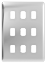 Schneider Lisse Deco Screwless 9G Polished Chrome Grid Plate GGBL09GPC