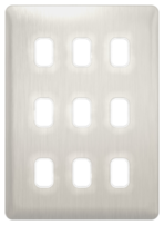 Schneider Lisse Deco Screwless 9G Stainless Steel Grid Plate GGBL09GSS