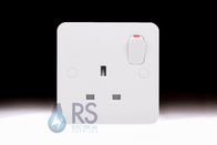 Schneider Lisse White NON STANDARD 13A Single Switched Socket GGBL3050NS