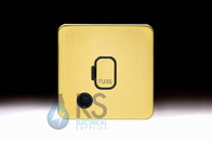 Schneider Lisse Screwless Deco 13A Unswitched Spur With Flex Outlet Satin Brass GGBL5003BSB