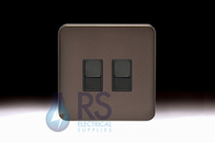Schneider Lisse Screwless Deco Double RJ45 Cat5e UTP Outlet Mocha Bronze GGBL7072C5BMBS