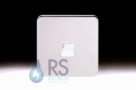 Schneider Lisse Screwless Deco 1G RJ12 Outlet Polished Chrome GGBL7051S