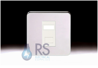Schneider Lisse Screwless Deco 1G RJ45 Cat5e UTP Modular Outlet Polished Chrome GGBL7071C5MWPC