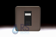 Schneider Lisse Screwless Deco 1G RJ45 Cat5e UTP Modular Outlet Mocha Bronze GGBL7071C5MBMBS