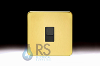 Schneider Lisse Screwless Deco 1G RJ45 Cat6e UTP Outlet Satin Brass GGBL7071C6BSBS