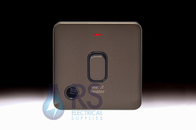 Schneider Lisse Screwless Deco 20A DP Switch Neon 'Water Heater' Mocha Bronze GGBL2014WHBMB