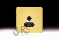 Schneider Lisse Screwless Deco 2A Round Pin Socket Satin Brass GGBL3070BSB