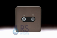 Schneider Lisse Screwless Deco Diplex TV-R/DAB Outlet Mocha bronze GGBL7020BMBS