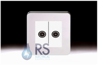 Schneider Lisse Screwless Deco Diplex TV-R/DAB Outlet Polished Chrome GGBL7020MWPC