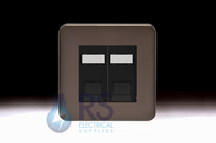 Schneider Lisse Screwless Deco Double RJ45 Cat6 UTP Modular Outlet Mocha Bronze GGBL7072C6MBMBS