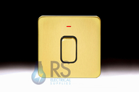 Schneider Lisse Screwless Deco DP Control Switch 1G 50A With LED Indicator Satin Brass GGBL4011BSB