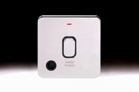 Schneider Lisse Screwless Deco DP Control Switch 1G With LED Indicator For Water Heater Polished Chrome GGBL2014WHBPC