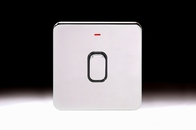 Schneider Lisse Screwless Deco DP Control Switch 1G With LED Indicator Polished Chrome GGBL2011BPC