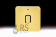 Schneider Lisse Screwless Deco DP Control Switch 1G With LED Indicator Satin Brass GGBL2011BSB