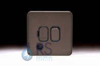 Schneider Lisse Screwless Deco DP Switched Spur With Flex Outlet Mocha Bronze GGBL5013BMB