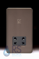 Schneider Lisse Screwless Deco Dual Voltage Shaver Socket Mocha Bronze GGBL7090BMBS