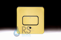 Schneider Lisse Screwless Deco Fan Isolator Switch 3 Pole Satin Brass GGBL1013BSB