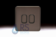 Schneider Lisse Screwless Deco Light Switch 2G Mocha Bronze GGBL1022BMB