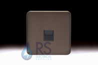 Schneider Lisse Screwless Deco RJ11 Outlet Mocha Bronze GGBL7051BMBS