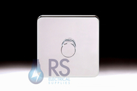 Schneider Lisse Screwless Deco Rotary Dimmer 1G 2W 400W/VA Polished Chrome GGBL6012CPCS