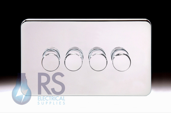Schneider Lisse Screwless Deco Rotary Dimmer 4G 2W 250W/VA Polished Chrome GGBL6042CPCS