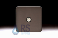 Schneider Lisse Screwless Deco Satellite F-Type Outlet Mocha Bronze GGBL7030BMBS