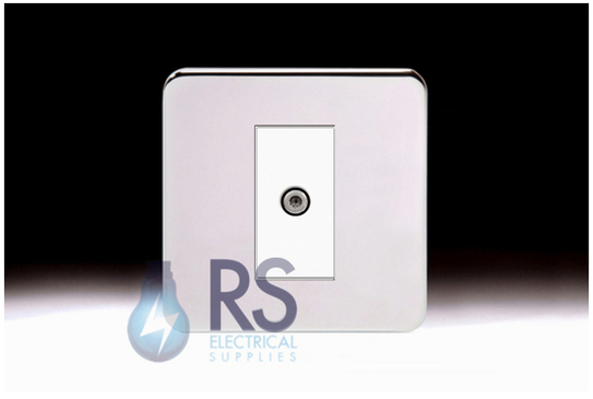 Schneider Lisse Screwless Deco Satellite F-Type Outlet Polished Chrome GGBL7030MWPC
