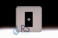 Schneider Lisse Screwless Deco Satellite F-Type Outlet Stainless Steel GGBL7030MBSS