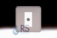 Schneider Lisse Screwless Deco Satellite F-Type Outlet Stainless Steel GGBL7030MWSS