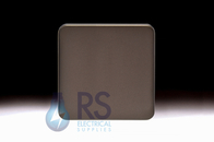 Schneider Lisse Screwless Deco Single Blank Plate Mocha Bronze GGBL8010MB