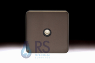 Schneider Lisse Screwless Deco TV-R Co-Axial Outlet Mocha Bronze GGBL7010BMB