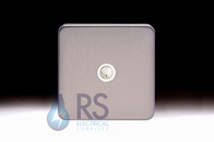 Schneider Lisse Screwless Deco TV-R Co-Axial Outlet Stainless Steel GGBL7010