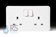 Schneider Lisse White 13A Double Switched Socket GGBL3020
