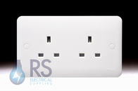 Schneider Lisse White 13A Double Unswitched Socket GGBL3060