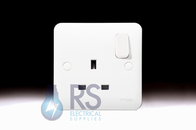 Schneider Lisse White 13A Single Switched Socket GGBL3010