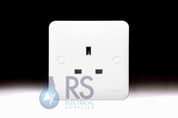 Schneider Lisse White 13A Single Unswitched Socket GGBL3050