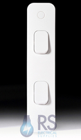 Schneider Lisse White Architrave Light Switch 2G 2Way GGBL1022A