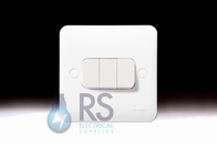 Schneider Lisse White Light Switch 3Gang 2Way GGBL1032S