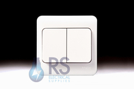 Schneider Lisse White Light Switch Wide Rocker 2Gang 2Way GGBL1022W